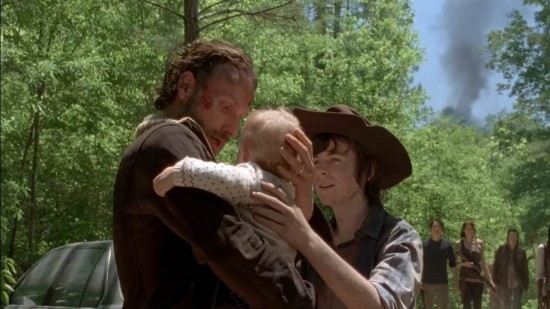 Rick, Judith, Carl - The Walking Dead