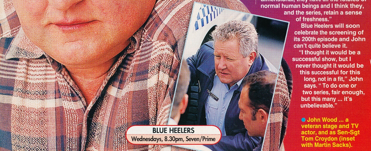 """TV Week: """"Tom's well-earned break"""" Blue Heelers August 22nd 1998"""