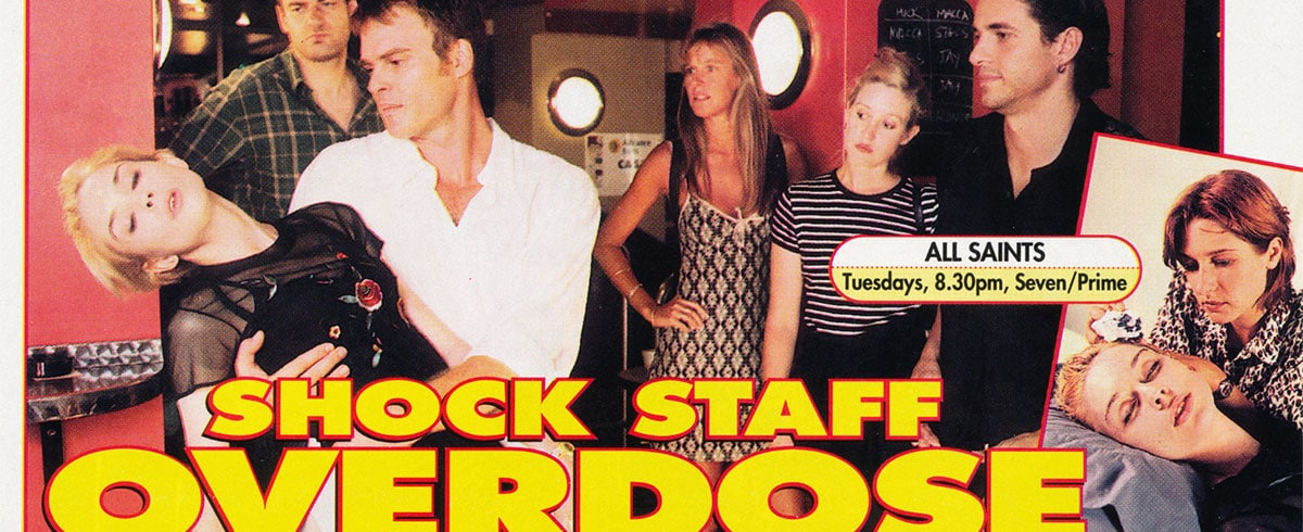 """TV Week: """"Shock Staff Overdose"""" All Saints 14th March 1998"""