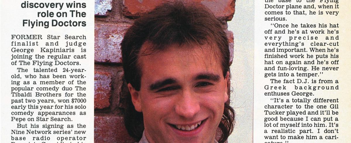 "TV Week: ""George tunes in to Coopers Crossing"" The Flying Doctors 15th November 1986"