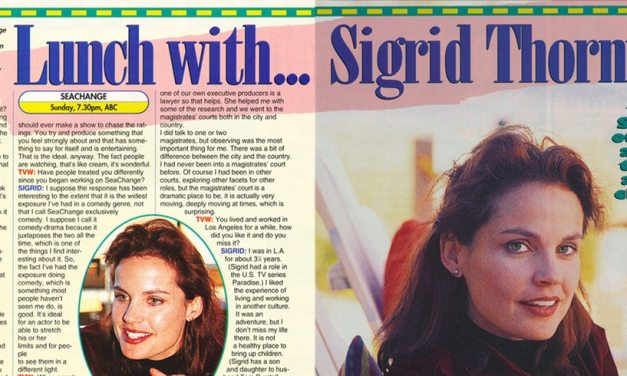 """TV Week: """"Lunch with… Sigrid Thornton"""" SeaChange 25th July 1998"""