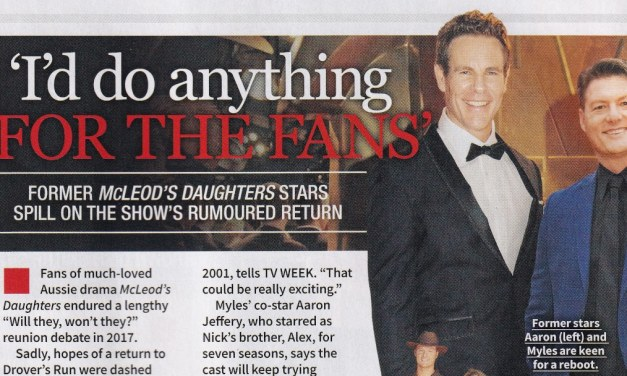 "TV WEEK: ""I'd do anything for the fans"" McLeod's Daughters 1st July 2018"