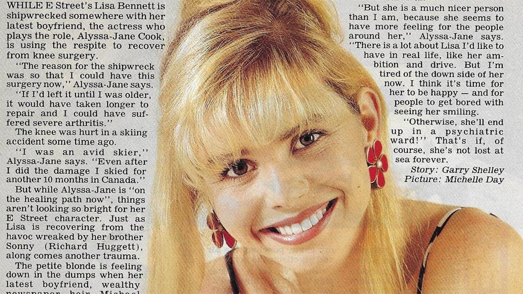 """TV Week: """"Missing at Sea"""" E Street 10th November 1990"""