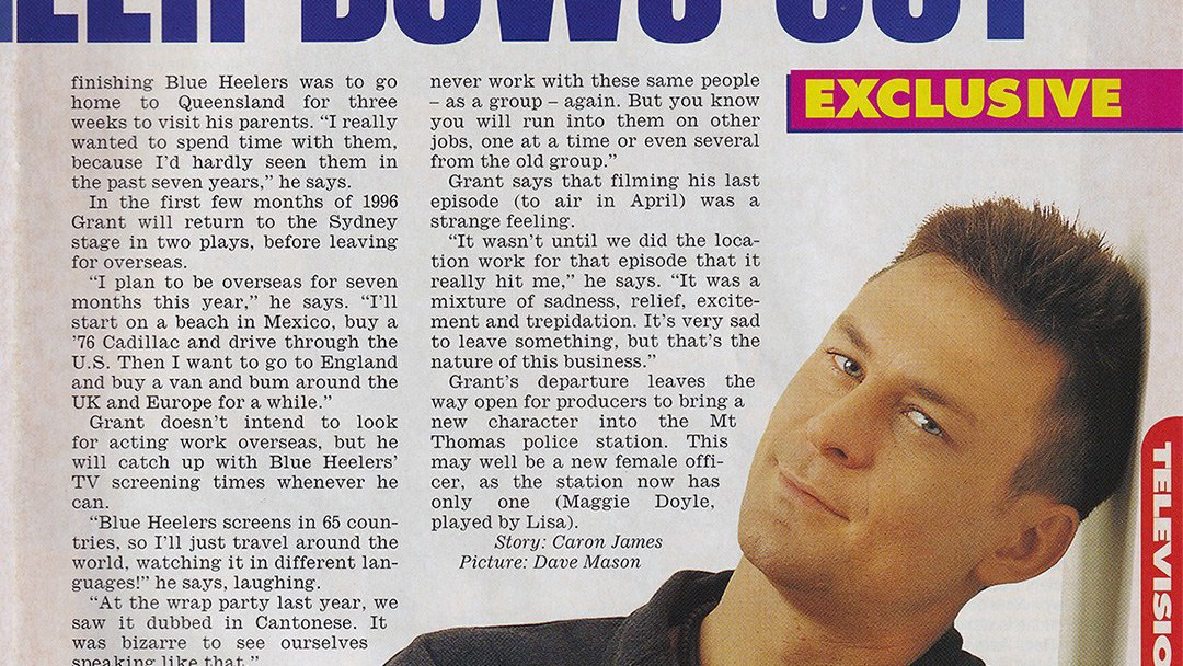 """TV Week: """"Bowler Bows Out"""" Blue Heelers 13th January 1996"""