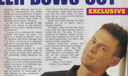"TV Week: ""Bowler Bows Out"" Blue Heelers 13th January 1996"