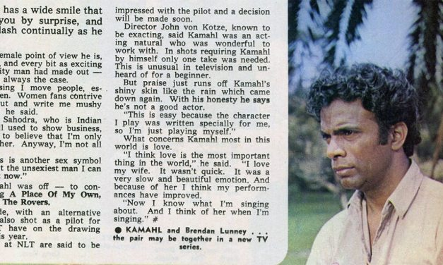 """TV Week: """"Kamahl – The Modest Sex Symbol"""" The Rovers 24th January 1970"""