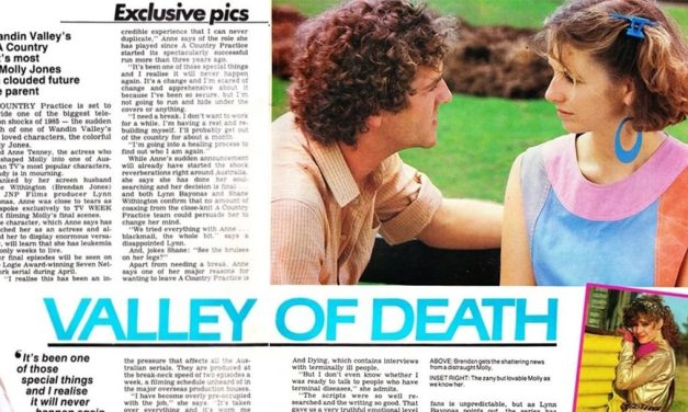 """TV Week: """"Valley of Death"""" A Country Practice 12th January 1985"""