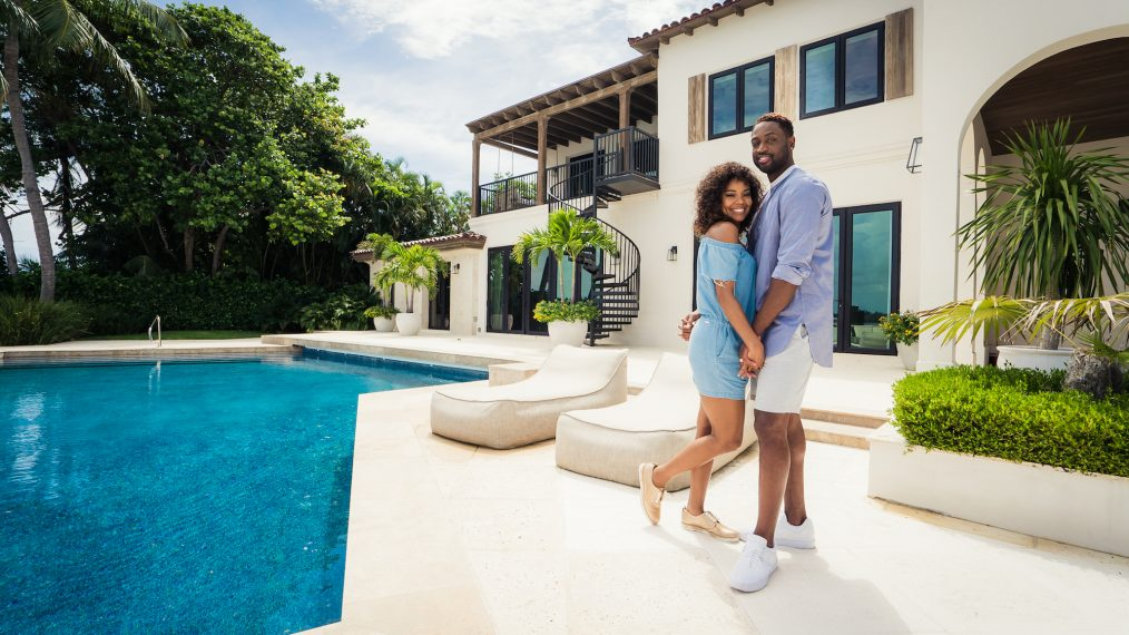 Image result for Gabrielle Union and Dwyane Wade at home