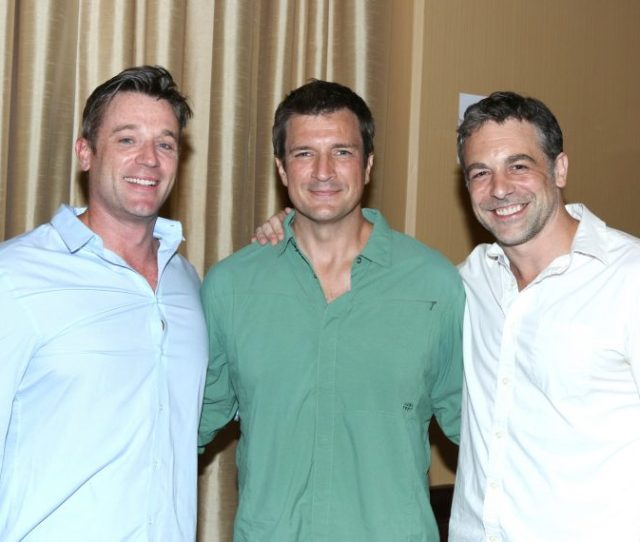 Tom Degnan Nathan Fillion And Chris Mckenna At The One Life To Live And All My Children Reunion Event On July   Photo Steven Bergman