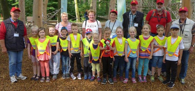 Kinderbewegungsabzeichen im Wald