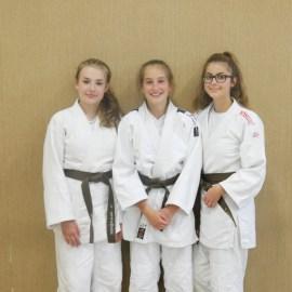 Judo: Jana Brahmann, Isabell Can und Sarah Jungmann absolvieren Prüfung zum braunen Gürtel in Rheda-Wiedenbrück