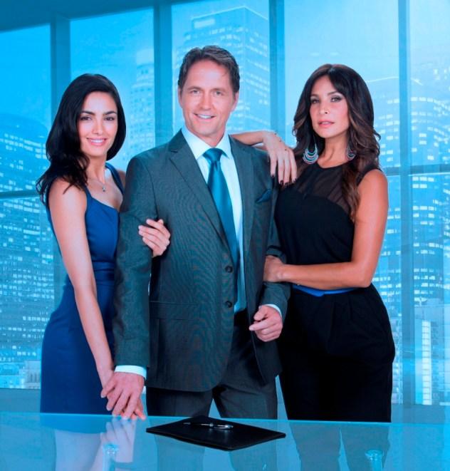 Itahisa Machado, Guy Ecker y Lorena Rojas, protagonistas de la telenovela Rosario