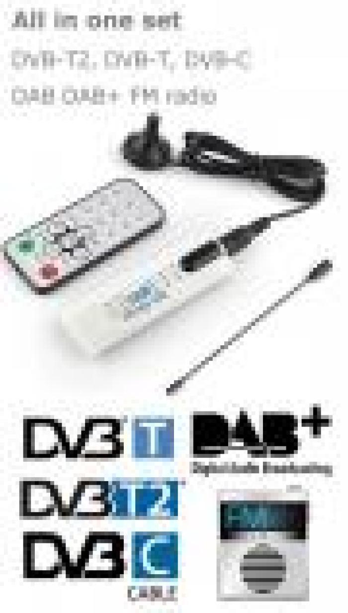 DVB T2U USB DVB T2 PC DTV receiver DVB T2 DVB T DVB C SDR FM DAB TV STICK all in set