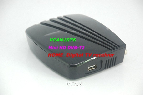 VCAN1076 HD mini Home DVB-T2 Digital TV Receiver H.264 black box MPEG4 USB PVR