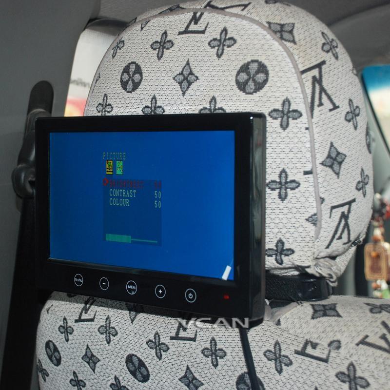 Headrest monitor support bracket