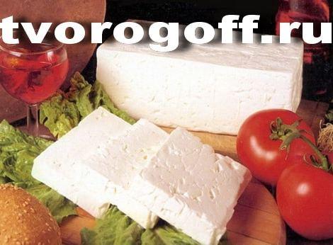 Домашний сыр брынза, прессованный со специями. Брынза из молока.