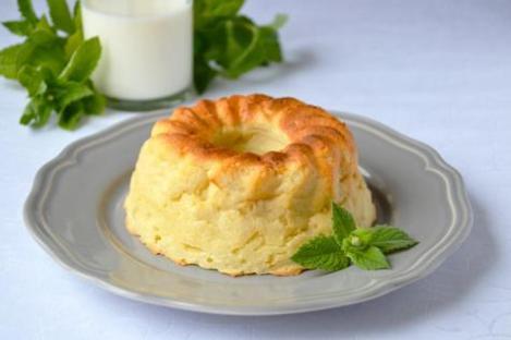 Сырный пудинг рецепт.   Нежный диетический десерт.