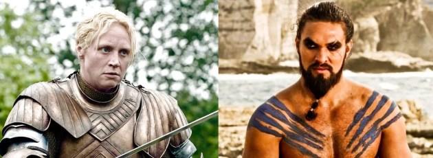Game of Thrones :Gwendoline Christie (Brienne of Tarth) et Jason Momoa (Khal Drogo)
