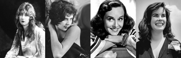 De gauche à droite : Mildred Harris, Lita Grey, Paulette Goddard et Oona O'Neill