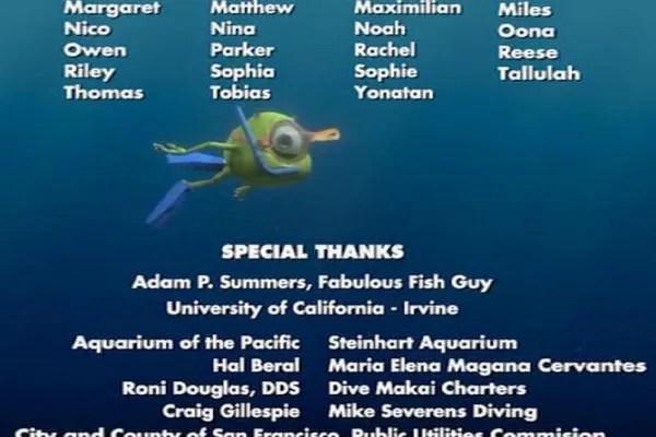 Dans Finding Nemo (2003), Mike Wazowski de Monsters, Inc. (2001) se permet de traverser l'écran en apnée afin que ces deux univers semblent n'en former qu'un!