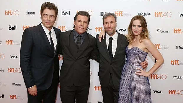 Benicio Del Toro, Josh Brolin, Denis Villeneuve et Emily Blunt au Festival international du film de Toronto le 11 septembre 2015.