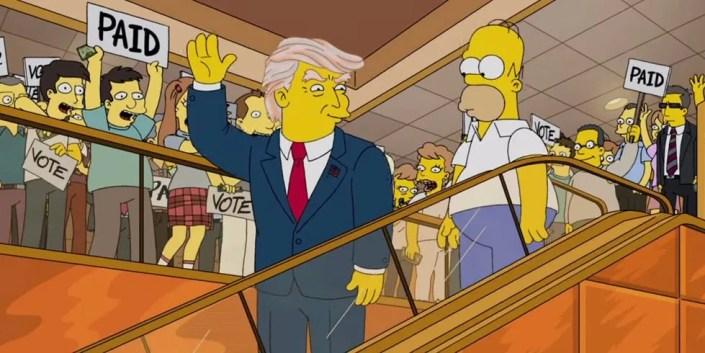 Donald Trump Les Simpson