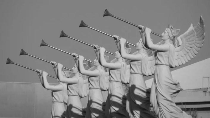 bruits étranges et de trompettes apocalypse