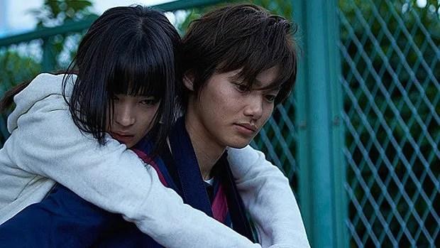 Chihaya (Suzu Hirose) et Taichi (Shuhei Nomura) dans Chihayafuru.