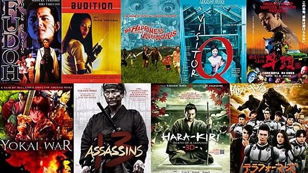 Quelques-uns des films du réalisateur japonais Takashi Miike.