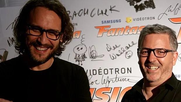 Le réalisateur Fede Alvarez et le producteur exécutif Mathew Hart à la première canadienne de Don't Breathe à Fantasia le 3 août 2016.
