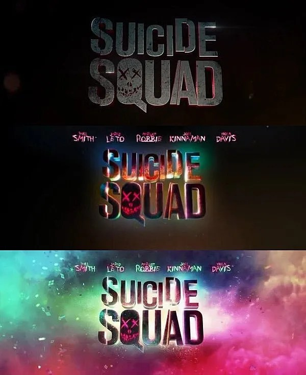 L'évolution des logos au fil des bandes-annonces.