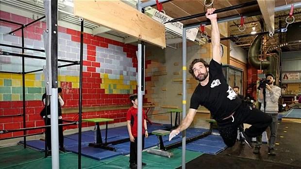 Guillaume Lemay-Thivierge s'est entraîné au centre Gym X à Saint-Jérôme.