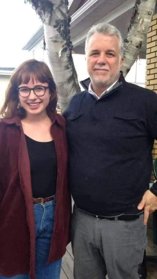 Alice Paquet et Philippe Couillard