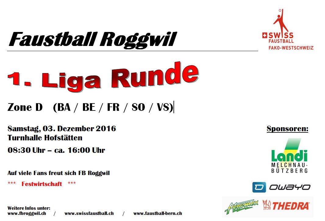 1. Liga Meisterschaft am 3. Dezember in Roggwil