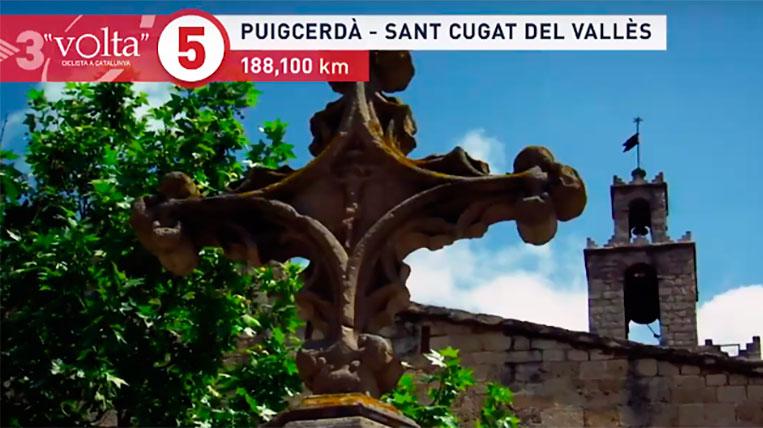 L'etapa Puigcerdà-Sant Cugat, la més llarga de La Volta Catalunya 2019