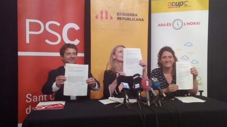 """Núria Gibert i l'Assemblea Local de la CUP defensen el pacte perquè """"el sobiranisme no pot ser un fre de mà"""""""
