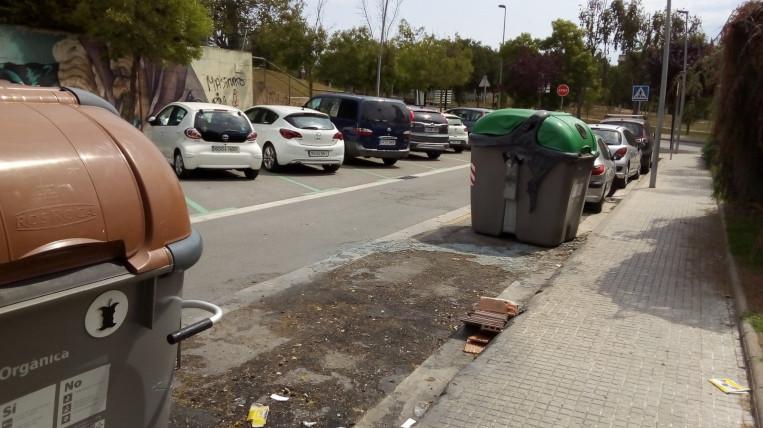 Els contenidors cremats el 2019 suposen més de 81.000 euros de despesa pública