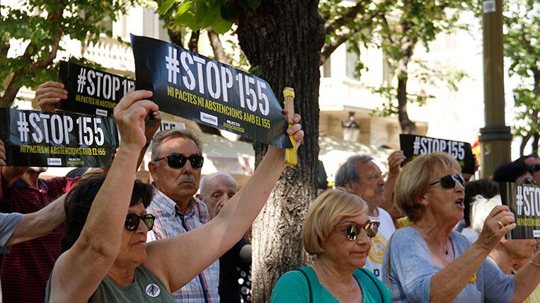 JxCat entrega la presidència de la Diputació de Barcelona al PSC tot i la manifestació de l'ANC en contra dels partits no sobiranistes