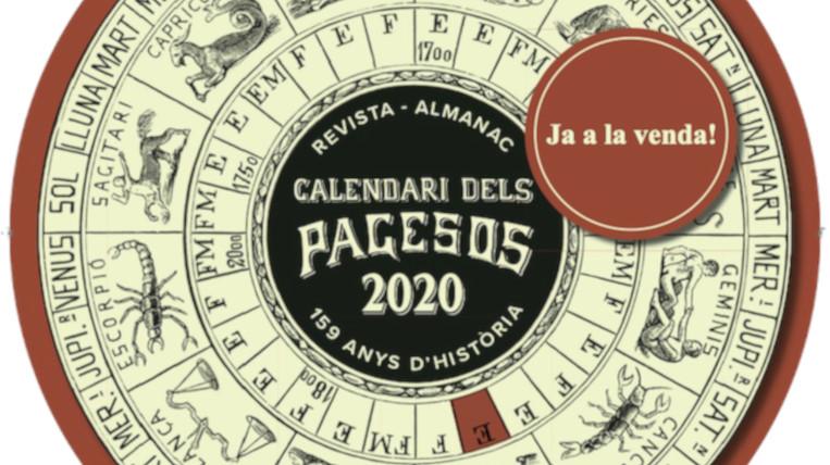Ja està a la venda el Calendari dels Pagesos 2020