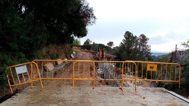 L'Ajuntament de Sant Cugat suspèn les obres de La Floresta iniciades per l'esllavissament causat pel temporal Glòria