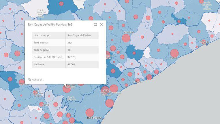 Coronavirus a Sant Cugat: 362 casos positius, 22 més que dimarts