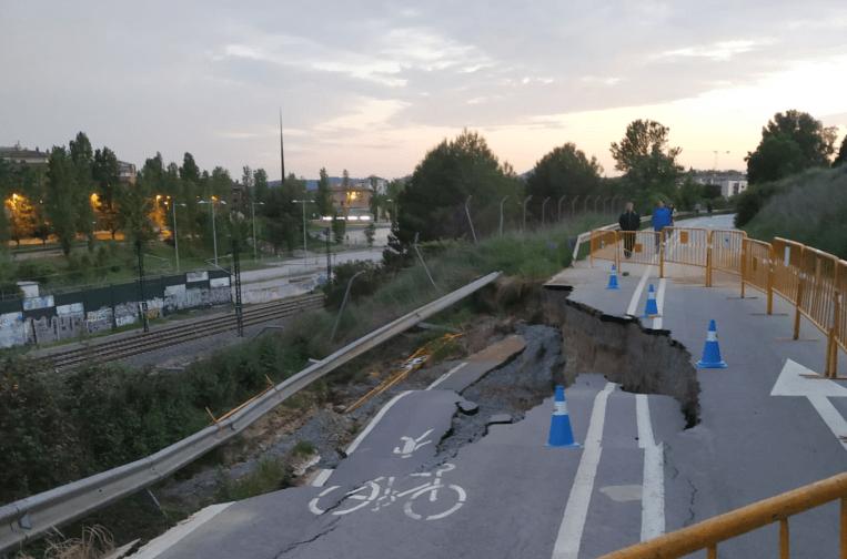 L'esllavissada del camí de Sant Cugat a Sabadell provocada pel temporal Glòria s'arrenjarà aquest trimestre