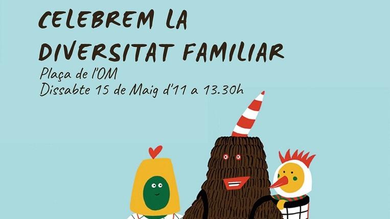 """La jornada """"Celebrem la Diversitat Familiar"""" reivindicarà la diversitat de famílies el 15 de maig"""