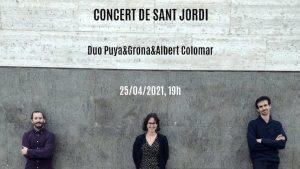 El grup de cambra Duo Puya&Grona estrena online el concert de Sant Jordi gravat al Conservatori de Sant Cugat