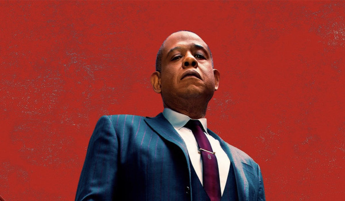 Forest Whitaker nel poster di Godfather of Harlem. Credits: Disney Plus.