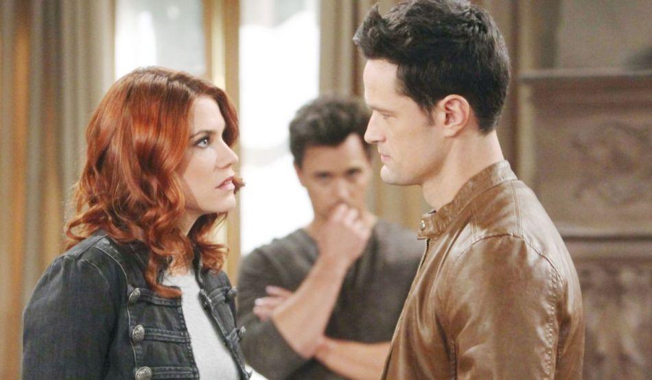 Sally, Wyatt e Thomas in Beautiful, soap opera Credits BBL DISTRIBUTION e Mediaset