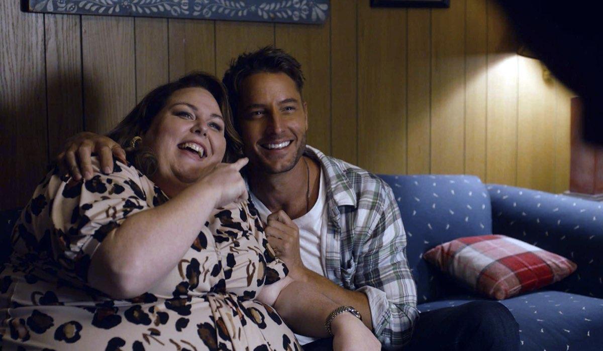 Da sinistra: Chrissy Metz (Kate) e Justin Hartley (Kevin) in una scena della quinta stagione. Credits: Fox.