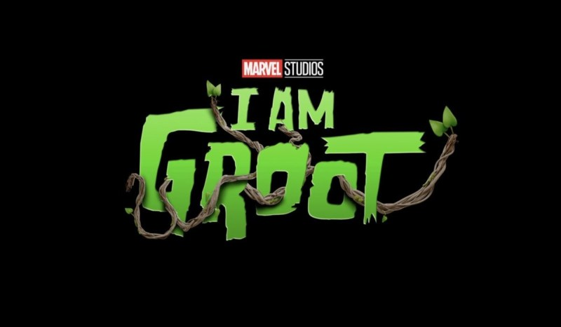 Logo di I Am Groot. Credits: Disney Plus/Marvel Studios.