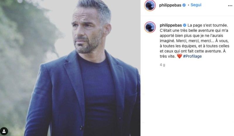 Screenshot Al Post Condiviso Da Philippe Bas Nel Suo Profilo Instagram Ufficiale Sulla Chiusura Di Profiling