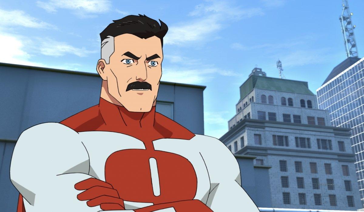 Omni-Man in una scena di Invincible. Credits: Amazon Studios.